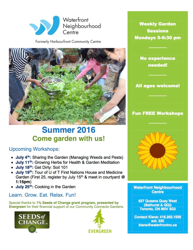 Garden Workshops July 2016